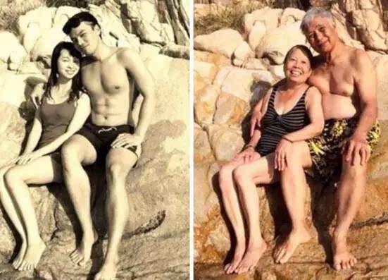 年轻就爱到老的旧照片,证明只要是真爱都会天长地久图片