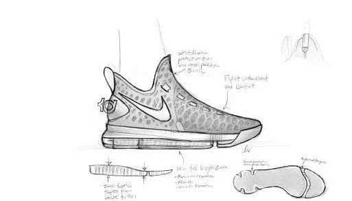耐克球鞋设计图手绘