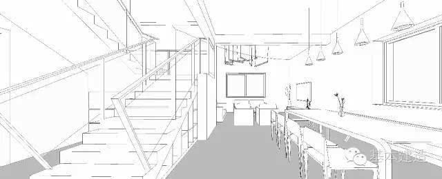 厨房一家图手绘