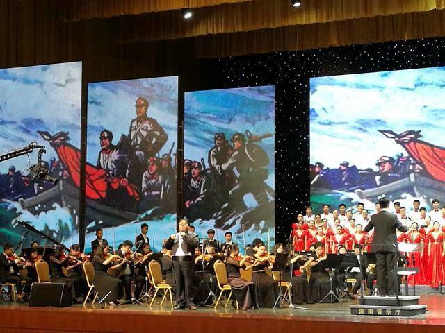 湖南举行 红旗颂 大型合唱晚会 庆祝建党95周年