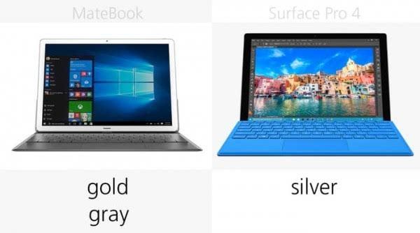 华为MateBook和Surface Pro 4规格参数对比的照片 - 9
