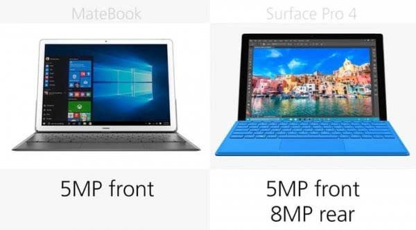 华为MateBook和Surface Pro 4规格参数对比的照片 - 22
