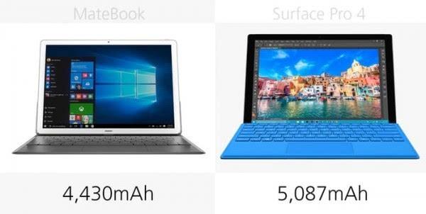 华为MateBook和Surface Pro 4规格参数对比的照片 - 23