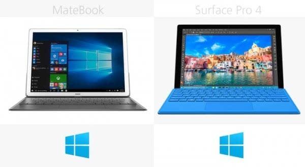 华为MateBook和Surface Pro 4规格参数对比的照片 - 24