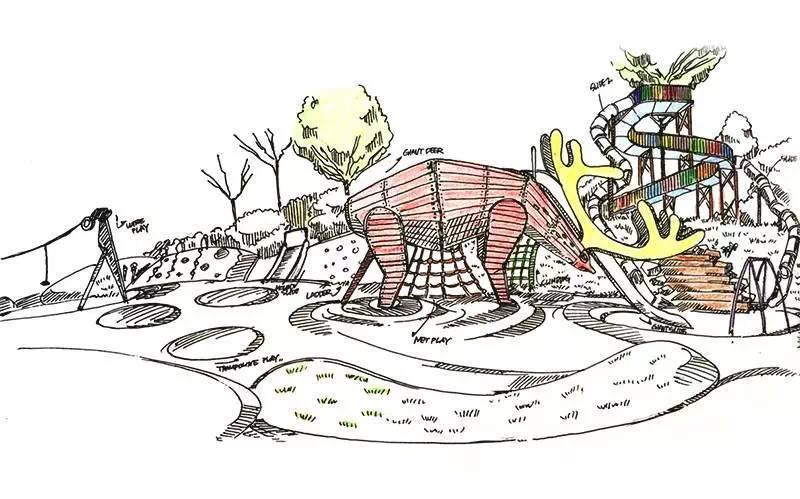 西溪湿地公园手绘