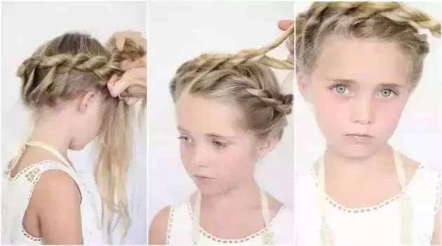 可爱编发扎头发教程!把孩子打扮成最美的公主!