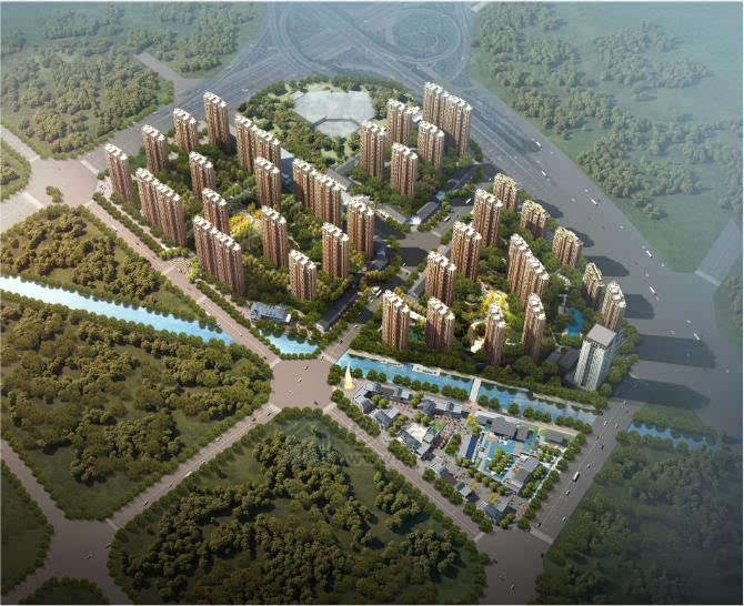 金泰新理城小区规划图
