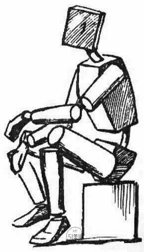 动向线只有在人物立正站立,头部平视的状态才是一种平行状态;人体只要