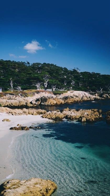 绚丽天蓝色沙滩海水高清手机高清壁纸