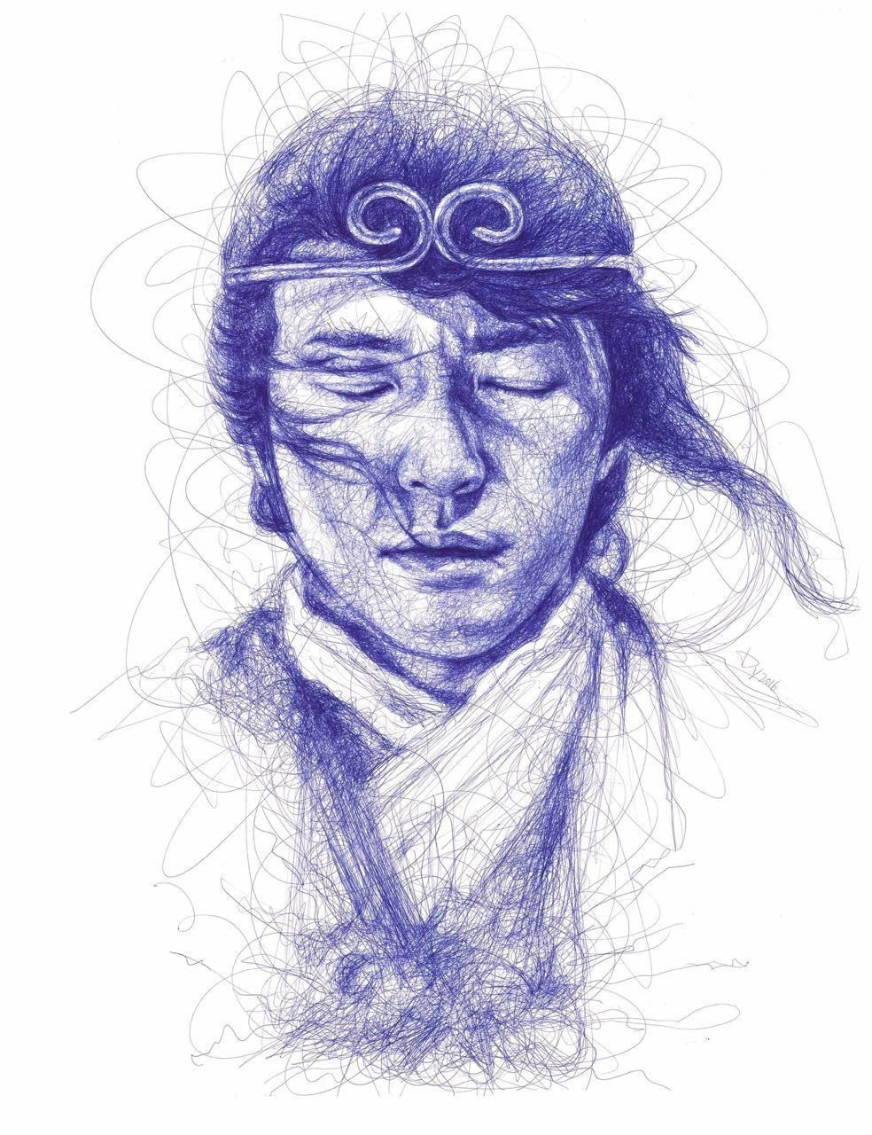 学期末,在一次素描课程后,画的作业受到老师鼓励,参加了两次比赛