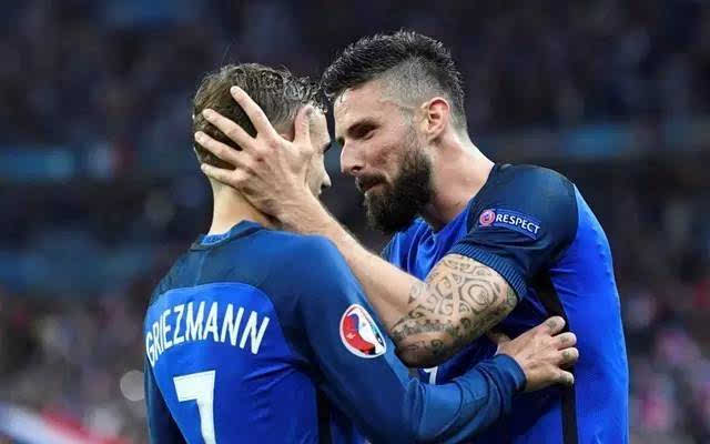 欧洲杯法国5-2大胜冰岛晋级四强,吉鲁两射一传,格列兹曼两传一射