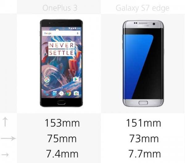 大内存或弧形屏?一加3和Galaxy S7 edge规格对比的照片 - 2