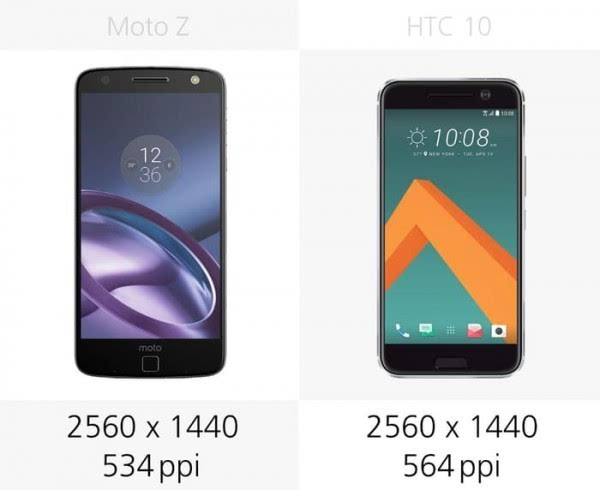 Moto Z和HTC 10规格参数对比的照片 - 8