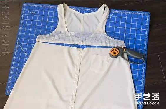 旧衣服改造 变身连衣短裙的图解教程0706