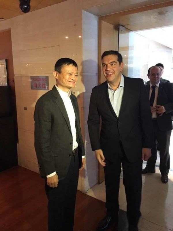 希腊总理会见马云:希望同阿里巴巴合作发展中小企业的照片
