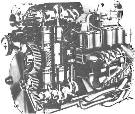 l60发动机是一种2冲程直列6缸对置活塞水冷多种燃料压燃式发动机
