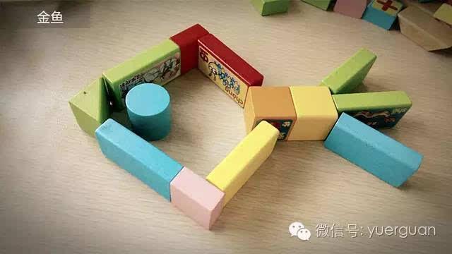 木制搭建积木拼法