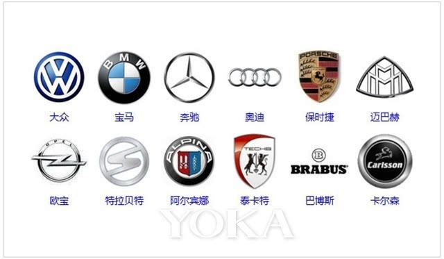 奔驰,宝马,奥迪,保时捷,迈巴赫等著名汽车品牌