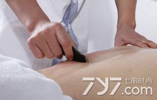 刮痧减肥的图解 五大部位刮痧瘦身法