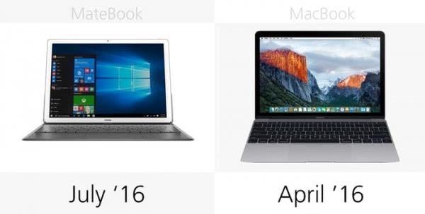 华为MateBook和苹果MacBook规格参数对比的照片 - 23