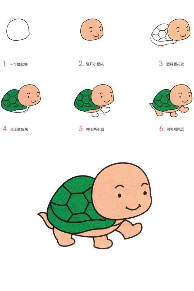 巧妈| 萌萌幼儿园动物简笔画,快和孩子一起试试吧!