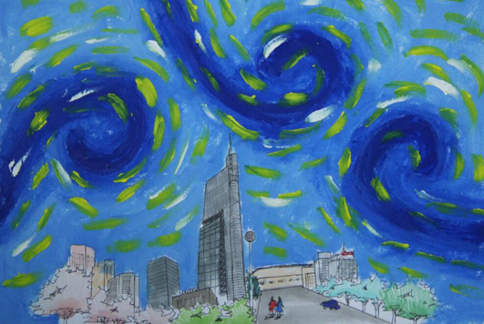 梵高星空手绘图