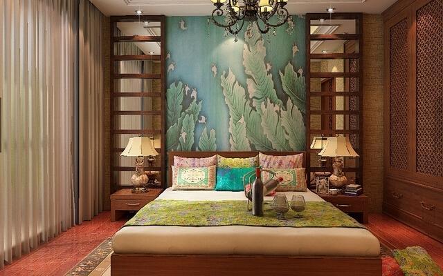 欧式床头背景墙装修效果图图片