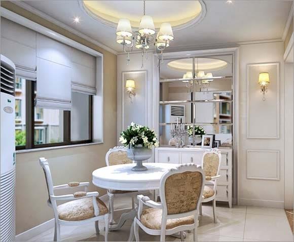 这是一款现代中式风格的餐厅吊灯设计,是比较的符合新中式的风格以及中式风格的家居环境当中进行装扮使用的一款吊灯,而且这款餐厅吊灯在设计中的吊灯的灯距是具有明显的特点,距离桌面的距离更近,能够在光照上面的氛围感的烘托上面更为突出,因此这款餐厅吊灯的功率是并不适应使用过大的。   餐厅吊灯装修效果图赏析三: