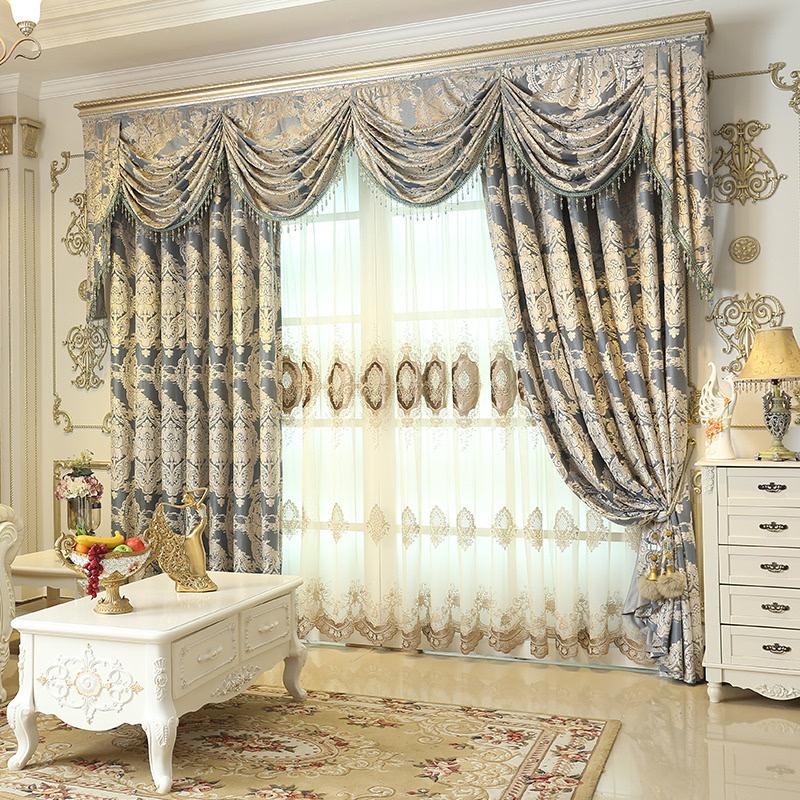 帷幔式窗帘手绘效果图