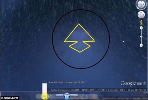 """太平洋底现神秘""""巨型金字塔"""" 外媒:或为古UFO基地的照片"""