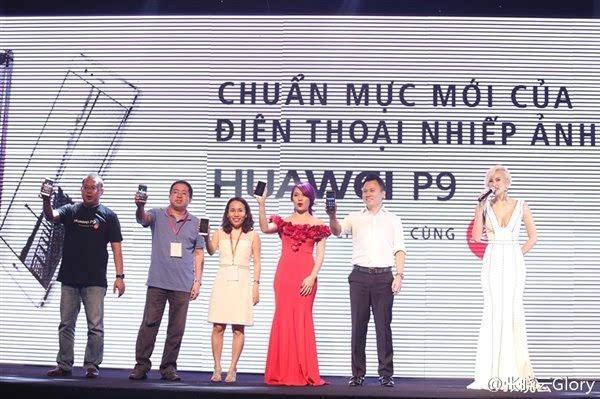 国货威武:华为P9正式登陆越南 天后级女歌手代言的照片 - 1