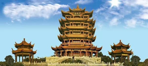 """黄鹤楼是武汉市标志性建筑,与晴川阁,古琴台并称""""武汉三大名胜""""."""