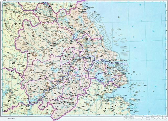 明朝西安手绘地图