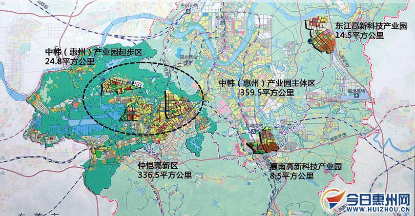 惠州中韩产业园总规将出 市区将