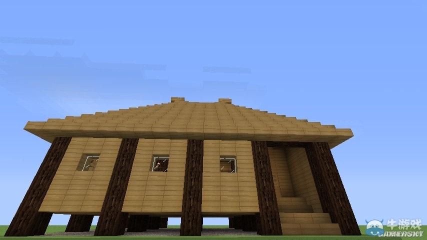 《我的世界》游戏中玩家可以动手设计并建造自己喜欢的房子,而小型的
