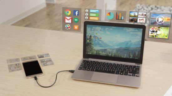 Andromium的Superbook将智能手机变成一台笔记本电脑的照片 - 4