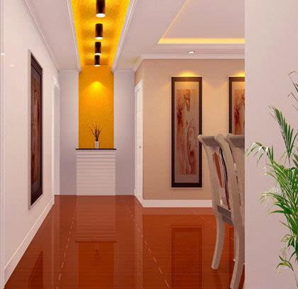 客厅进门玄关效果图:走廊吊顶装修效果图,很漂亮的灯光设计图片