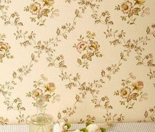 卧室墙纸颜色搭配:欧式田园风格墙壁纸图片,时尚温馨的田园风