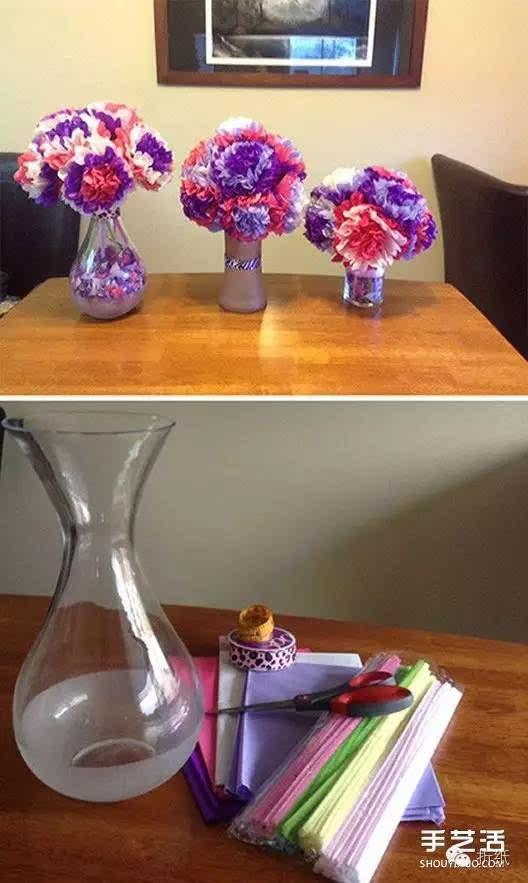 手工纸花的做法图解 多层纸花的折法步骤图