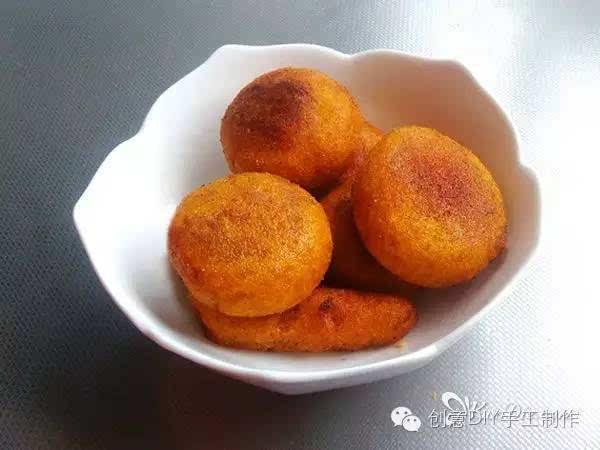 [手工美食〕diy酥软甜糯的炸南瓜饼的做法