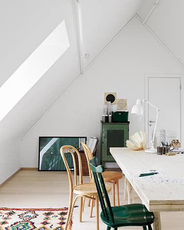 室内木头阁楼手绘