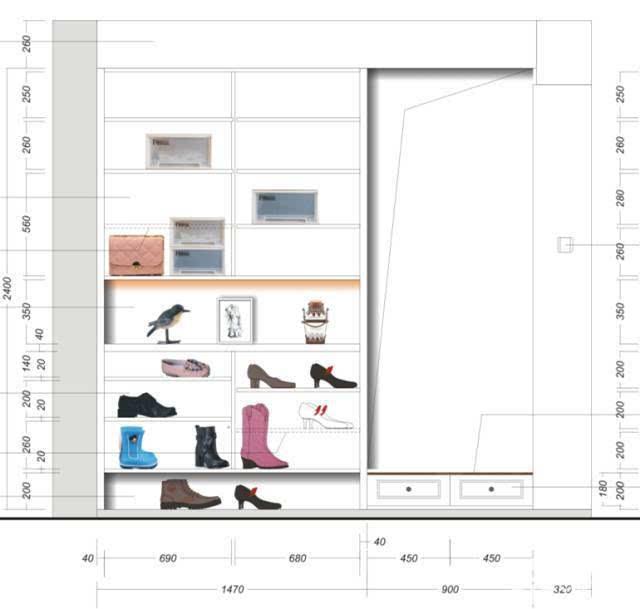鞋柜组装步骤图文字