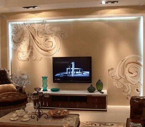 欧式客厅电视背景墙设计图 大气奢华图片
