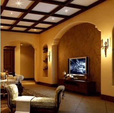 欧式客厅电视背景墙设计图
