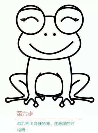 高兴卡通简笔画
