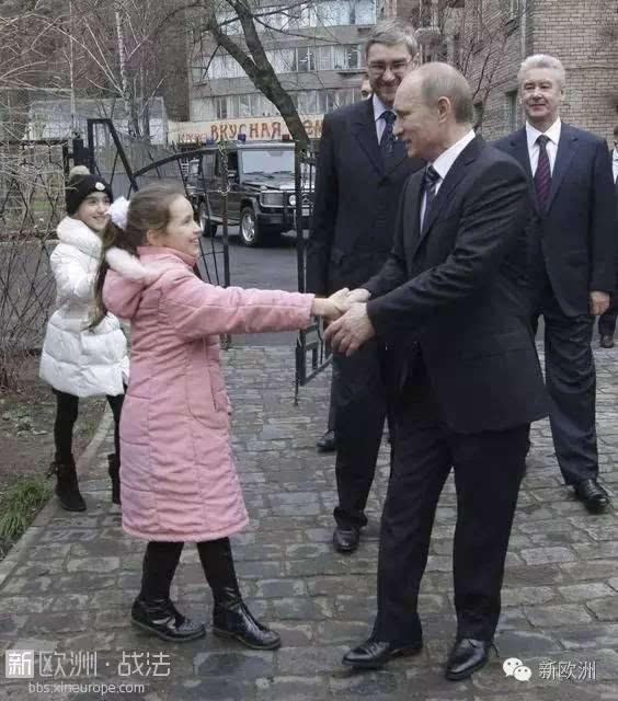普京,我知道您不会拒绝孩子们向您要小动物的请求