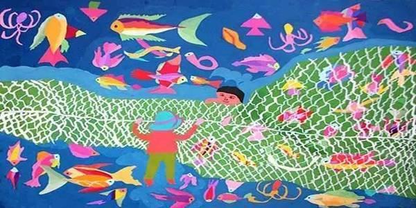 当地专业的渔画老师将指导孩子学习绘制一幅承载他们想象与标签的图片
