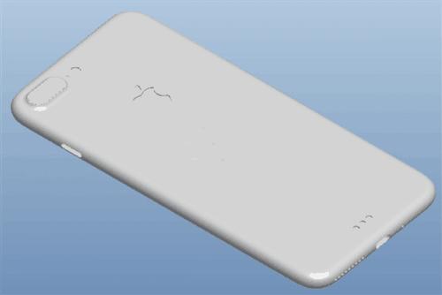 疑似iPhone 7 Plus 3D工程图曝光: 双摄像头的照片 - 1