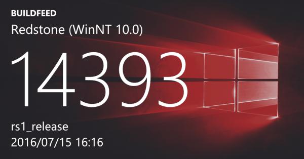 Windows 10年度更新RTM版14393推送的照片 - 1