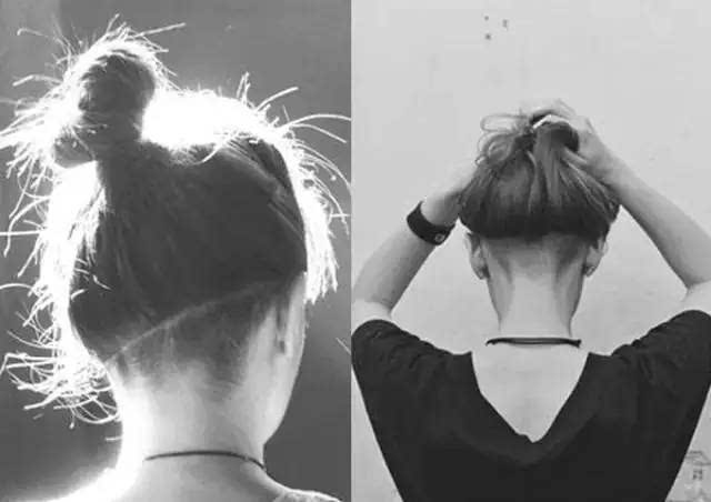 cut,under cut发型的意思就是把侧边的头发剃掉,留下上方的头发让整体